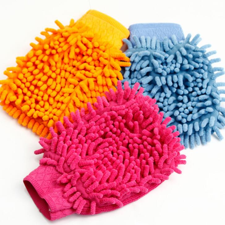 Colorful Eco Friendly Soft Car Cleaning Glove