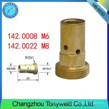 Tochas de água Binzel peças de soldagem suporte de ponta de contato MB 501D