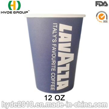 Copo de papel café quente descartável por atacado (12oz-4)