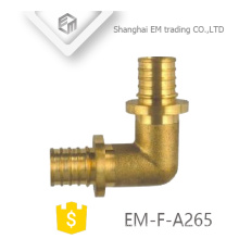 EM-F-A265 Brass male circular tooth double union different diameter elbow fitting