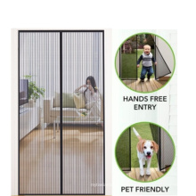 Hot selling Magnet Screen Door with Heavy Duty Mesh Curtain and Full Frame Hook&Loop for  pet and Kid friendly