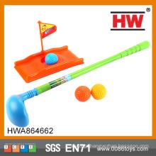 Engraçado Crianças brinquedo esporte brinquedo de golfe plástico mini putters jogo de golfe