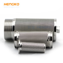Sintered stainless steel multilayer wire mesh welding gas filter cartridge