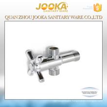 Wholesale chrome plated 3-way angle valve with cross handle