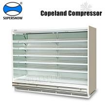 Refrigeración vertical usada abierta del supermercado de la cubierta múltiple