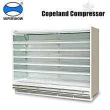 Réfrigération de supermarché utilisé ouvert à plusieurs étages vertical