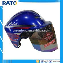 Fabricante profissional motocicleta de capacete de meia face azul