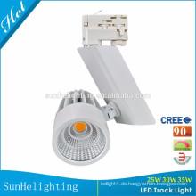 LED-Schmucksache-Anzeigenschienenbeleuchtung ul LED-Punkt-Licht 25W 30W 35W weißes und schwarzes geführtes Schienenlicht