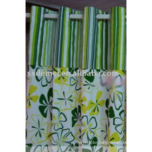 flower printed waterproof canvas door curtain