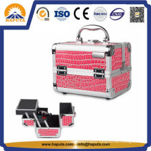 Fashionable PVC Crocodile Makeup Vanity Box (HB-2018)