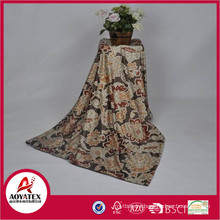 2018 new 100% polyester soft printed micro mink blanket with USA fashional design