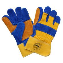 Double Palm Cow Split Leather Cut Resistant Work Gloves
