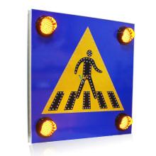 Aluminum solar warning LED pedestrian traffic road sign
