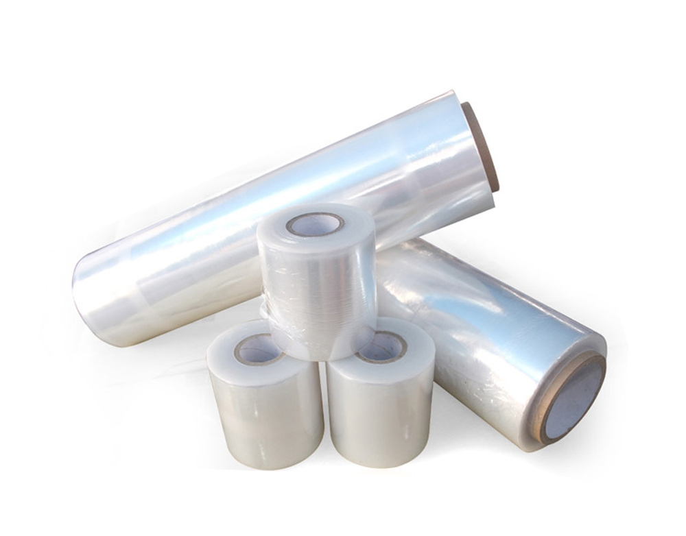 Clear pe plastic stretch pallet film rolls