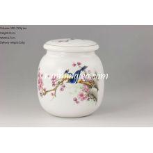 Cartucho redondo de té de porcelana Magpie