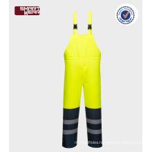 Men's work wear Reflective safety bib pants hi vis work pants