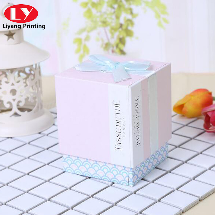 Lid And Base Gift Box With Ribbon