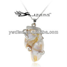 New design shell pendants with 925 sterling silver hook