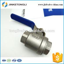 JKTL2B041 rb cf8m 1000wog 2 peças de gás pn40 válvula de esfera de teflon de ferro fundido