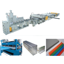 PC PP Hollow Grid Plate Extrusion Line