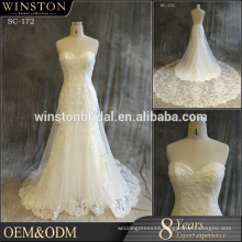 Alibaba Dresses Supplier sexy wedding dress open low back