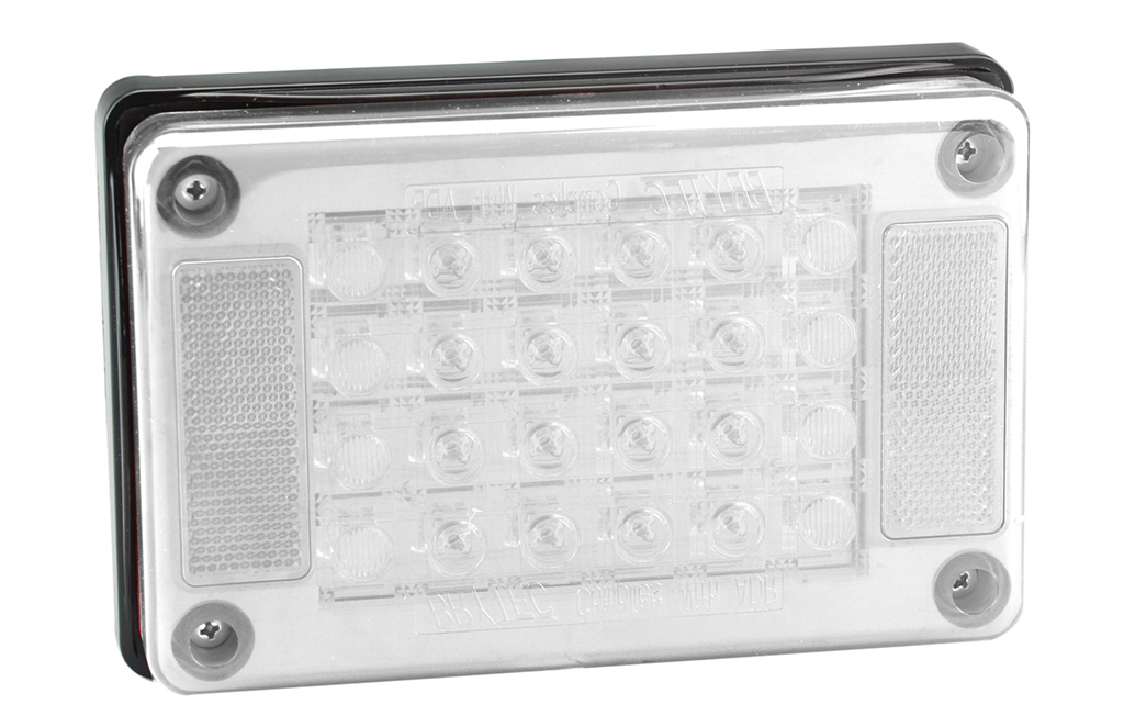 100% Waterproof LED Truck Rectangle Reverse Lights