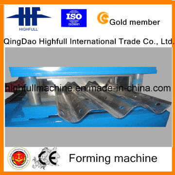 Galvanized Two Waves Highway Guardrail Roll Forming Machine
