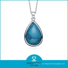 Großhandel Turquoise Birthstone Silber Anhänger Halskette (SH-N0184)
