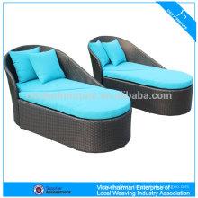outdoor furniture rattan plastic sun lounger CF1207C+CT