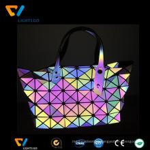 China gongguan alibaba reflective 7 rainbow color reflections handbags