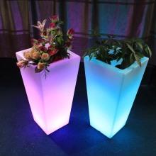 Outdoor Decoration Garden Light Up Led Flower Pots