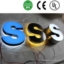 Signes de lettre de canal lumineux lumineux rétroéclairés par LED de haute qualité