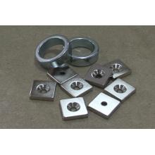 Countersunk Magnets Permanent NdFeB Square Shape