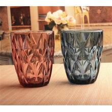 Copies en verre colorées avec des tops personnalisés Tasses en verre à usage alimentaire pour l'eau de jus