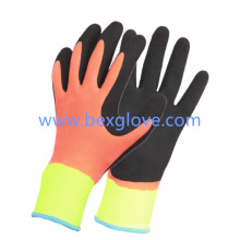 13 Gauge Nylon Liner, Latex Coating, Double Coated, Inner Layer Full Coated Foam Finish, Outer Layer Sandy Finish Work Glove