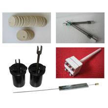 Parte utilizável 150mm Negativo 6-8Ω Silicon Carbon Rods