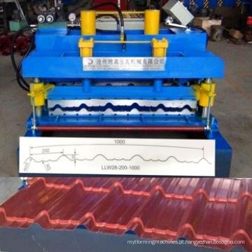 Máquina formadora de rolo de telha metálica de alta qualidade