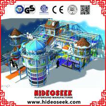 Nieve congelada Tema Naughty Castle Niños Indoor Playground Equipo