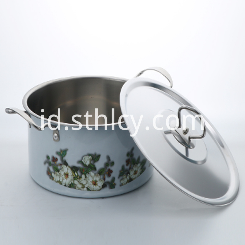 Pattern Painting Stainless Steel Pot