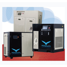 37KW 145 Psi 6.3m3/min air compressor High efficient Motor Inverter Frequency VSD Two Stage Screw Compressor