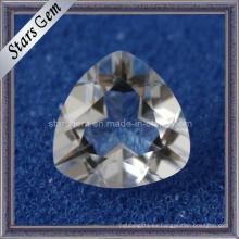 Fancy Cut Blanco Cristal Triángulo Forma Natrual Piedra