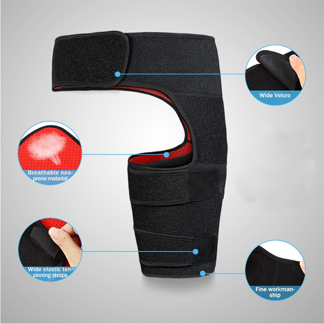 Adjustable Thigh Compression Wrap Support