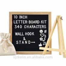 Heißer Verkauf fühlte sich schwarzer Briefkasten mit 182pcs Buchstaben und Symbolen und Emojis