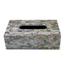 Chinese freshwater shell spray full sides rectangle tissue box