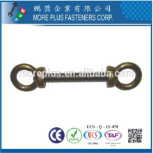Made in Taiwan High Quality Copper Stainless Steel Double Decorative Eye Bolts