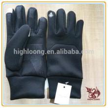 Оптовые зимние велосипедные перчатки из черного полиэфира с силиконовым покрытием