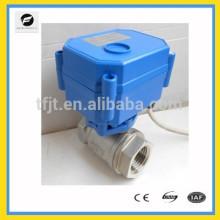 2 выход 12В,24В Электрический из нержавеющей стали шариковый клапан для солнечных водонагревателей,стиральных машин,водонагревателей