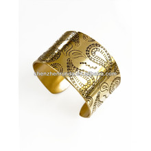 china manufacturer cheap wholesale 2014 fashion gold bangles with leaves for women