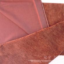 Einfaches Farbgarn gefärbtes Polyester-Chenille-Gewebe für Sofa