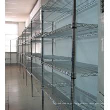 Prateleira de prateleira de metal ajustável para loja Super Market / Shop, aprovação NSF